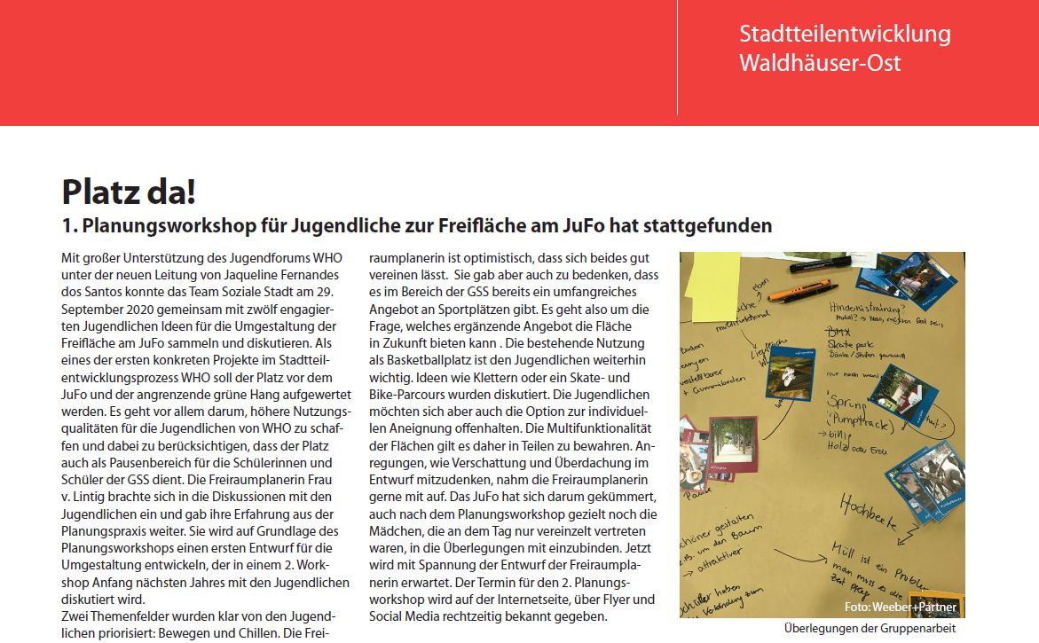 Stadtteilzeitung-Artikel-Planungsworkshop